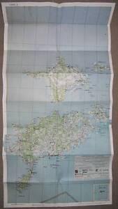 SAAREMAA, HIIUMAA, islands of ESTONIA, rare map 1931 (size ca 0,5 x 1,0 metres)