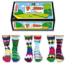 UNITED ODDSOCKS SIX ARGYLE GOLF INSPIRED ODD SOCKS MENS UK 6 -11 GIFT IDEA