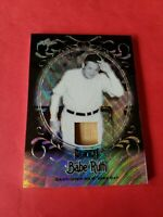 BABE RUTH GAME USED BAT CARD #d1/3 LEAF METAL REFRACTOR #SB22 NEW YORK YANKEES