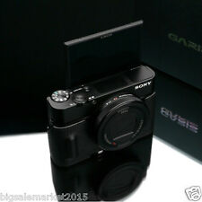 New GARIZ Sony RX100M5 Genuine Leather Half Case Black For DSC-RX100 V RX100M5