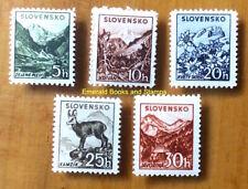 EBS Slovakia Slovensko 1940 - Tatra Landscapes - Michel 71-75 MNH**