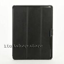 "For iPad Pro 12.9"" (1st Gen) Hybrid Folding Folio Snap Case Cover - Black Clear"