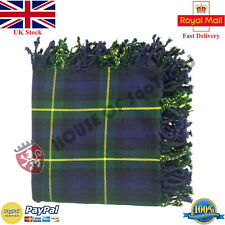 Gordon Highlander Tartan Scottish Purled Fringe Fly Plaid for Traditional Kilts