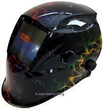 Auto Oscurecimiento Casco Soldadura Soldadores Máscara H12 solar Diseño Rayo mostrar