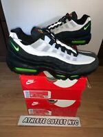New Nike Air Max 95 Black Voltage Green Men's Size 8-8.5 Sneakers AT9865-004