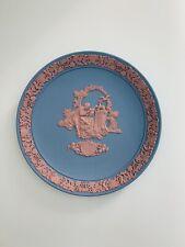 Wedgwood Jasperware Valentine'S Day 1987 Ltd. Ed. Pink on Blue Plate