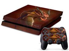 Sony ps4 playstation 4 skin Design Autocollant Film de protection set-red dragon motif
