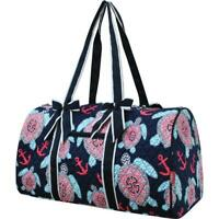Quilted Duffle Bag NGIL Sea Turtle Print 20' Carry on/Beach/Overnight/Duffle