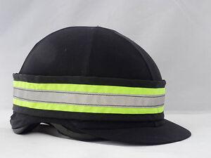 Fluorescent hi viz hat band - yellow or pink - horse riding - 1st class post