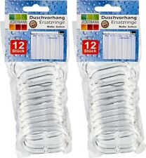 24 Duschvorhang Ringe Duschhaken Ersatzringe Duschringe transparent