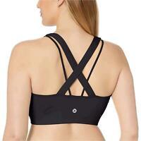 Core 10 Women's Spectrum Longline Cross Back Sports Bra, Black,, Black, Size 8.0