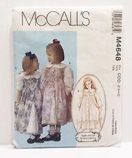McCalls Pattern # M4648 Girls Petticoat Dress and Penafore -  Size 2 - 5 Uncut