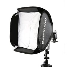 "Micnova SB40 16x16"" Softbox Kit w Speedlight L-Type Bracket for Camera Flashes"