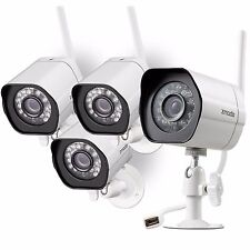 Zmodo 4 Pack HD Wireless IP Outdoor IR Video Surveillance Security Camera System