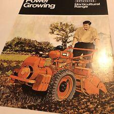 HOWARD Rotavators Horticultural Range -200 350 & Gem Original 1970s Brochure