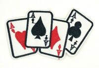 us seller 4 Aces Hand Cards Player Poker Patch Iron-On/Sew-On Embroidered 1577