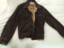 NWT Mens Large Levis LVC Brown Leather Jacket Boomtown Reversible motorcycle NOS