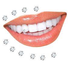 Zahnschmuck, Klar, 10 Stück + 2 Gratis zwischen 1,2 - 2 mm wählen