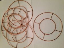 """Small 8"""" Wreath Round Flat Copper Christmas Table Candle Decoration"""