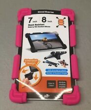"CHINFAI Universal 7"" 8"" Tablet Case Shockproof Silicone Stand Cover Pink READ"