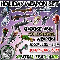 Holiday Weapon Set PL144 - PL130 -CheckList- | Fortnite STW XBOX/PS4/PC