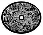 #136) MEDIUM 17x14 MEXICAN BATHROOM SINK CERAMIC DROP IN UNDERMOUNT BASIN