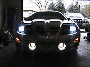 White Halo Angel Eye LED fog lamps light Kit for 1993-2002 Pontiac Trans Am
