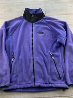 North Face Purple Fleece Full Zip Jacket Womens Medium Coat Fleece