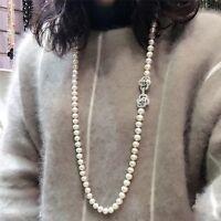 kultivierte 11-12 mm Weiß Süßwasser Perle Halskette, 35 inches