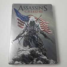 Assassin's Creed III 3 Steelbook FACTORY SEALED Collectible Exclusive