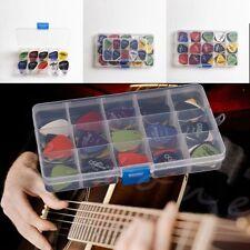 100pcs Acoustic Electric Guitar Picks Plectrum Various 6 thickness+Pick Box