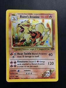 Blaine's Arcanine 1/132 - Holo Foil Rare - Gym Challenge - Pokemon Card - HP
