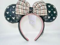 Disney Parks Tweed and & Pearl Minnie Mouse Ears Headband Mickey Ear Bow 2021