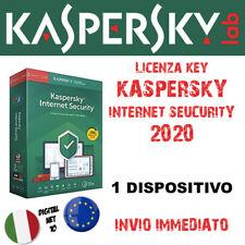 KASPERSKY INTERNET SECURITY 2020 🔑 1 Dispositivo Nuovo o Aggiornamento (12 mesi