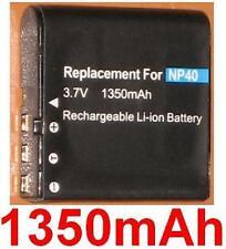 Batterie 1350mAh type NP-40 NP-40DBA NP-40DCA Pour CASIO Exilim Zoom EX-Z100PK