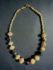 Afrikanischer Hörner Perlen Halskette Jewellrey Set - Designer Ethisches Schmuck