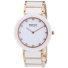 *BRAND NEW* Bering Women's Ceramic Gold and White Tone Steel Watch 11435-766