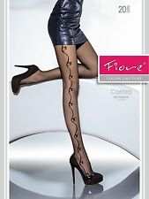 Fiore Designer Carissa Quality Fashionable Patterned Tights 20 den