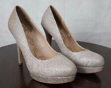 Next Opulence Ladies Glitter Wedding Sparkly Glitzy Platform Shoes, UK 7 EU 41