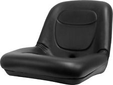 Low Back Lawn Mower Seat Black fits AGCO, Ariens, Dixon, Gravely & Hustler