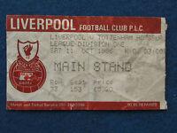 Liverpool v Tottenham Hotspur - 11/10/1986 - Ticket