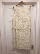 Monsoon Cream Lace Dress Size 16