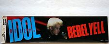 Vintage Retro Genuine Authentic 1984 Billy Idol Rebel Yell Unused Bumper Sticker