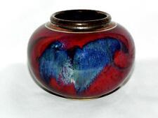 AUSTRALIAN  Studio Pottery *JOHN EAGLE* Rich Red and Blue VASE 12cm - Exc.