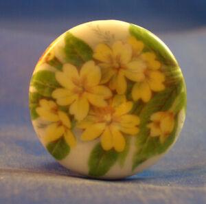 Birchcroft China Button - Primrose Floral - One Inch Size ( 25 mm )