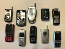 Lot of 10 Used Vintage Cell Phones and Pager
