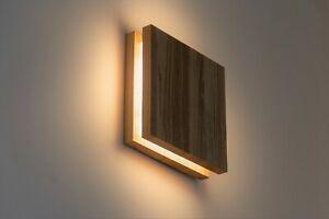 Wood wall sconce oak LED lamp Wall light, handmade, minimalist design wall lamp.