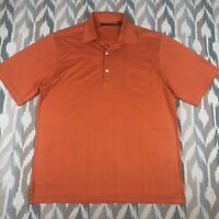 Greg Norman Men's Short Sleeve Polo Button Front Shirt Orange Size S Small