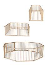dibea, XXL Laufstall, Baby Laufgitter (Holz) 8 Elemente je 90 x 68 cm inkl Tür