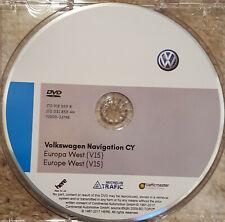 2018 V15 VW RNS510/810 sat nav disc map update Navigation  UK&West europe